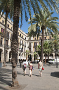 Catalonia Art - Placa Reial Barcelona Spain by Matthias Hauser
