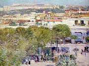 Central America Paintings - Place Centrale and Fort Cabanas - Havana by Childe Hassam