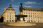 Town Square Prints - Place De La Bourse Print by Russell Mountford