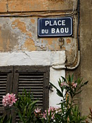 French Signs Art - PLACE du BAOU by Lainie Wrightson