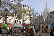 Sacre Coeur Art - Place du Tertre by Rod Jones