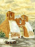 Taos Prints - Place of Miracles Print by Linda Hiller