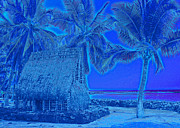 Kerri Ligatich Digital Art - Place of Refuge in Blue by Kerri Ligatich
