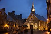 Quebec Prints - Place Royale and Notre-Dame-des-Victoires Church Print by Hideaki Sakurai
