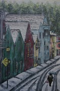 Miners Paintings - Placerville by Gracie Villareal