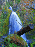 Wahkeena Prints - Places Where Magic Happens - Wahkeena Falls Print by Photography Moments - Sandi