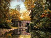 Stone Bridge Framed Prints - Placid Pond Framed Print by Jessica Jenney