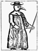 Robe Prints - Plague Costume, 1720 Print by Granger