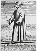 Printed Posters - Plague Doctor, 17th Century Artwork Poster by