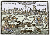 Anxiety Framed Prints - Plague In London, 1625 Framed Print by Sheila Terry