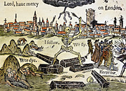 Personification Prints - Plague Of London, 1665 Print by Granger