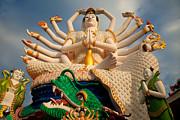 Plai Laem Buddha Print by Adrian Evans