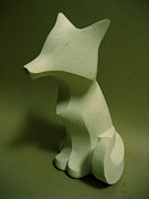 Plaster Sculpture Sculptures - Plainer Fox by Adam Strong