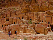 Tombs Digital Art - Plainer Tombs for Not So Rich Nabateans in Petra  by Ruth Hager