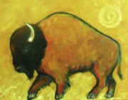 Buffalo Paintings - Plains Buffalo by Carol Suzanne Niebuhr