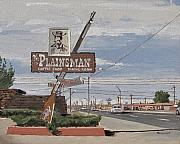 Road Trip Painting Framed Prints - Plainsman Framed Print by Steve Beaumont