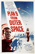 1950s Movies Photo Posters - Plan 9 From Outer Space, 1959 Poster by Everett