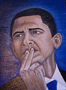 Barack Mixed Media Posters - Plan For Peace  Poster by Keenya  Woods