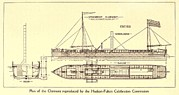 Paddles Posters - Plan Of Robert Fultons First Steamboat Poster by Everett