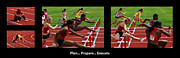 Track And Field Prints - Plan Prepare Execute With Caption Print by Bob Christopher