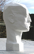 Head Sculpture Prints - Planar Man Print by Robert Bissett