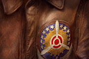 Patch Posters - Plane - Pilot - The flight jacket Poster by Mike Savad