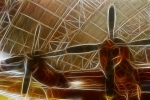 Science Fiction Art Prints - Plane In The Hanger Print by Paul Ward