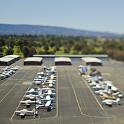 Palo Alto Prints - Planes at Small Airport Print by Eddy Joaquim