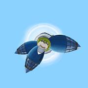 Planet Bonn Print by Design Windmill