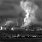 Factory Photo Originals - Planet Earth Plus Man by Joseph G Holland