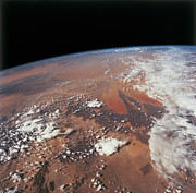 Height Framed Prints - Planet Earth Viewed From Space Framed Print by Stockbyte