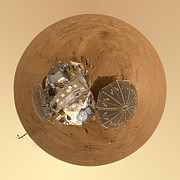 Mars Photos - Planet Mars via Phoenix Mars Lander by Nikki Marie Smith