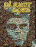 Planet Of The Apes Posters - Planet of the Apes Comic Book Mosaic Poster by Paul Van Scott