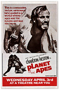 1960s Poster Art Framed Prints - Planet Of The Apes, Top Charlton Framed Print by Everett