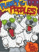 Undead Drawings Posters - Planet of the Poodles Poster by Anthony Snyder