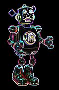 Planet Digital Art Metal Prints - Planet Robot Metal Print by DB Artist