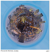 World Cities Digital Art Metal Prints - Planet Wee Montreal Quebec Metal Print by Nikki Marie Smith