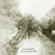 California Earthquake Prints - Planet Wee San Fransisco 1906 Fire Print by Nikki Marie Smith