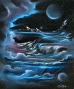 Angel Blues  Painting Prints - Planetary Falls Print by David Gazda
