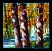 Fall Trees Posters - Planets Image Five Poster by John Lautermilch
