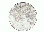 Antique Map Digital Art - Planispheric Map Of The Eastern Hemisphere by Fototeca Storica Nazionale