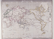 Victorian Style Digital Art - Planispheric Map Of The World by Fototeca Storica Nazionale