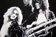 Jimmy Page And Robert Plant Art - Plant and Page by Michael James  Toomy