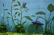 Mural Photos - Plant Mural With Live Plants by Mark Weaver
