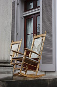 Rocking Chairs Metal Prints - Plantation Rocking Chairs Metal Print by Carol Groenen