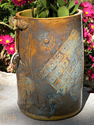 Featured Ceramics Metal Prints - Planter Metal Print by Christine Belt