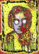 Juxtapoz Mixed Media Framed Prints - Planting Peace Framed Print by Robert Wolverton Jr