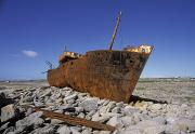 Aran Islands Framed Prints - Plassey Shipwreck, Inisheer, Aran Framed Print by The Irish Image Collection