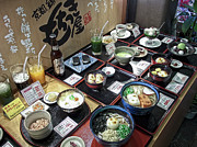 Noodles Prints - Plastic Food Display - Kyoto Japan Print by Daniel Hagerman