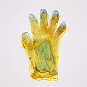 Plastic Glove Print by Kevin Curtis